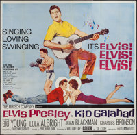 "Kid Galahad (United Artists, 1962). Six Sheet (79"" X 79""). Elvis Presley"