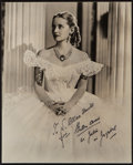 "Movie Posters:Drama, Bette Davis as Julie in Jezebel (Warner Brothers, 1938). Autographed Photo (7.5"" X 9.25""). Drama.. ..."