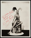 """Movie Posters:Miscellaneous, Betty Grable in Three for the Show (Columbia, 1954). Autographed Portrait Photo (8"""" X 10""""). Miscellaneous.. ..."""