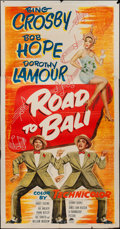 "Movie Posters:Comedy, Road to Bali (Paramount, 1952). Three Sheet (41"" X 79""). Comedy....."