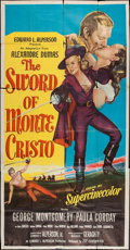 "Movie Posters:Adventure, The Sword of Monte Cristo (20th Century Fox, 1951). Three Sheet(41"" X 79""). Adventure.. ..."