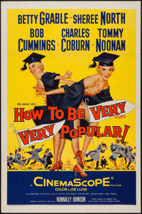 "How to Be Very, Very Popular & Others Lot (20th Century Fox, 1955). One Sheets (2) (27"" X 41"") & Inser..."