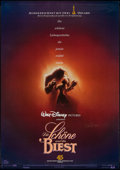 "Movie Posters:Animation, Beauty and the Beast (Buena Vista, 1992). Autographed German A0(33"" X 47""). Animation.. ..."