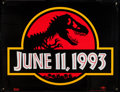 """Movie Posters:Science Fiction, Jurassic Park (Universal, 1993). Banners (2) (47.5"""" X 62"""") & Logo Poster (48"""" X 52"""") Regular & Advance. Science Fiction.. ... (Total: 3 Items)"""