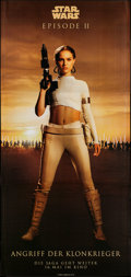 "Movie Posters:Science Fiction, Star Wars: Episode II - Attack of the Clones (20th Century Fox,2002). German Three Sheet (99"" X 47"") SS Advance Amidala Sty..."
