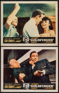 "Movie Posters:James Bond, Goldfinger (United Artists, 1964). Lobby Cards (2) (11"" X 14""). James Bond.. ... (Total: 2 Items)"