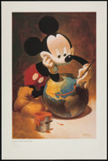"Movie Posters:Animation, Mickey Mouse ""Putting a Smile on the World"" (Walt Disney, 2008).Art Lithograph (20"" X 30""). Animation.. ..."