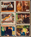 "Movie Posters:Crime, Crime Lot (Various, 1930s-1950s). Title Lobby Cards (2) & LobbyCards (11) (11"" X 14""). Crime.. ... (Total: 13 Items)"