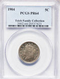 Proof Liberty Nickels: , 1904 5C PR64 PCGS. PCGS Population (215/122). NGC Census:(175/157). Mintage: 1,817. Numismedia Wsl. Price for problemfree...