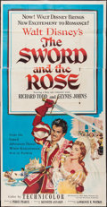"Movie Posters:Adventure, The Sword and the Rose (RKO, 1953). Three Sheet (41"" X 78"").Adventure.. ..."