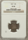 Bust Dimes: , 1827 10C XF40 NGC. NGC Census: (10/235). PCGS Population (24/218).Mintage: 1,300,000. Numismedia Wsl. Price for problem fr...
