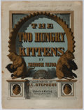 Books:Children's Books, Theodore Tilton. The Two Hungry Kittens. Tibbals &Whiting, 1865. Gorgeous lithographs throughout. Minor toning and...