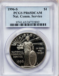 Modern Issues: , 1996-S $1 Community Service Silver Dollar PR65 Deep Cameo PCGS.PCGS Population (5/2027). NGC Census: (0/1701). Mintage: 10...