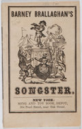 Books:Americana & American History, Barney Brallaghan. Songster: Collection of Irish Songs.Murphy, [n. d.]. Sixteenmo. Mild toning and rubbing with a b...