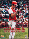 Baseball Collectibles:Others, Cal Ripken Jr. Signed Rochester Red Wings Poster....