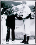 Baseball Collectibles:Photos, George H.W. Bush Signed Oversized Photograph - Yale Photo with BabeRuth. ...