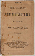 "Books:Literature Pre-1900, ""Punch"". Mrs. Caudles Curtain Lectures. Carey & Hart,1845. First American edition, first printing. Wrappers worn wi..."