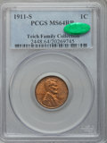 Lincoln Cents: , 1911-S 1C MS64 Red and Brown PCGS. CAC. PCGS Population (226/57).NGC Census: (218/116). Mintage: 4,026,000. Numismedia Wsl...