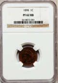 Proof Indian Cents: , 1898 1C PR62 Red and Brown NGC. NGC Census: (2/312). PCGSPopulation (7/207). Mintage: 1,795. Numismedia Wsl. Price forpro...