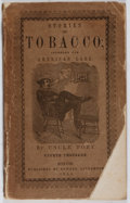 Books:Americana & American History, Simeon Toby. Stories of Tobacco Intended for American Lads.Livermore, 1852. Later edition. Wrappers rubbed and ...