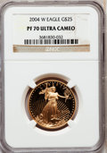 Modern Bullion Coins, 2004-W $25 Half-Ounce Gold Eagle PR70 Ultra Cameo NGC. NGC Census:(675). PCGS Population (168). Numismedia Wsl. Price for...