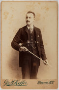 Books:Prints & Leaves, Cabinet Card Photograph of Musician with Violin. Approx. 6.5 x 4.25 inches. Foxing. Very good....