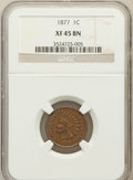 Indian Cents: , 1877 1C XF45 NGC. NGC Census: (141/320). PCGS Population (226/416).Mintage: 852,500. Numismedia Wsl. Price for problem fre...