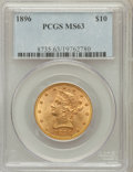 Liberty Eagles: , 1896 $10 MS63 PCGS. PCGS Population (130/9). NGC Census: (211/19).Mintage: 76,200. Numismedia Wsl. Price for problem free ...