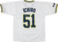 Baseball Collectibles:Uniforms, Ichiro Suzuki Signed Blue Wave Japanese Jersey. ...
