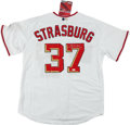 Baseball Collectibles:Uniforms, Stephen Strasburg Signed Washington Nationals Jersey....