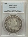 Early Dollars, 1798 $1 Large Eagle, Pointed 9, 10 Arrows Fine 15 PCGS. B-21,BB-107, R.5....