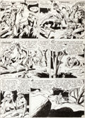 """Original Comic Art:Panel Pages, Bruno Premiani and Ray Burnley World's Finest Comics #73""""The Yankee Schoolmaster"""" Tomahawk Page 3 Original Art (D..."""