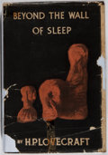 Books:Horror & Supernatural, H. P. Lovecraft. Beyond the Wall of Sleep. Arkham House,1943. First edition, first printing. Rubbing and toning to ...