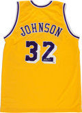 Basketball Collectibles:Uniforms, Magic Johnson Signed Los Angeles Lakers Jersey. ...