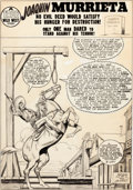 Original Comic Art:Splash Pages, Dan Barry Desperado #2 Splash Page 1 Original Art (LevGleason, 1950)....