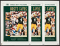Football Collectibles:Photos, 1995 Brett Favre Signed MVP Posters Lot of 5 - Each Limited to 50....
