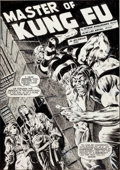 Original Comic Art:Splash Pages, Alan Weiss and Al Milgrom The Deadly Hands of Kung Fu #2Splash Page Original Art (Marvel, 1974)....