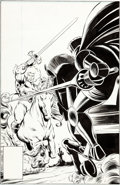 Original Comic Art:Covers, Ron Frenz and Bob McLeod Thundercats #20 Cover Original Art(Marvel/Star Comics, 1988)....