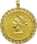 Estate Jewelry:Pendants and Lockets, US $10 Liberty Gold Coin, Gold Pendant. ...
