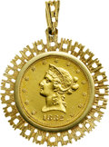 Estate Jewelry:Pendants and Lockets, US Gold Coin, Gold Pendant. ...
