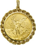 Estate Jewelry:Pendants and Lockets, 50 Pesos Gold Coin, Gold Pendant. ...