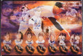 Baseball Collectibles:Others, Legends of Baseball and Nolan Ryan No Hitter Multi Signed PrintsLot of 2....