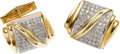 Estate Jewelry:Cufflinks, Gentleman's Diamond, Gold Cuff Links. ...