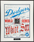 Baseball Collectibles:Photos, 1959 World Series Multi Signed Dodgers and White Sox OversizedPrint - Steiner....