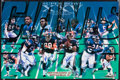 Football Collectibles:Photos, New York Giants Signed Oversized Photographs Lot of 2....