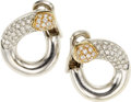 Estate Jewelry:Earrings, Diamond, Gold Earrings, French. ...