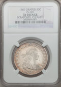 Early Half Dollars: , 1807 50C Draped Bust -- Cleaned, Scratches -- NGC Details. XF.O-105. NGC Census: (98/1121). PCGS Population (121/370). Mi...