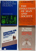 Books:Science & Technology, [Evolution]. Lot of Four First Editions on Evolution. [Various publishers, dates]. All hardcovers in jacket. Some ink owners... (Total: 4 Items)