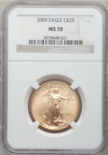 Modern Bullion Coins, 2005 G$25 Half-Ounce Gold MS70 NGC. NGC Census: (3738). PCGSPopulation (373). Numismedia Wsl. Price for problem free NGC/...