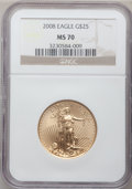 Modern Bullion Coins, 2008 $25 Gold 1/2 Oz MS70 NGC. NGC Census: (1723). PCGS Population(0). ...